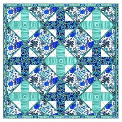 Elegant persian path quilt quilts free spirit fabrics free quilting 10   Quilt Patterns For Large Print Fabrics Inspiration Inspirations
