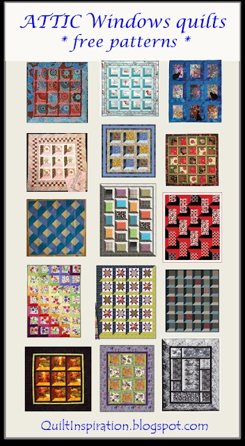 Elegant quilt inspiration free pattern day attic windows quilts 10   Through The Window Quilt Pattern