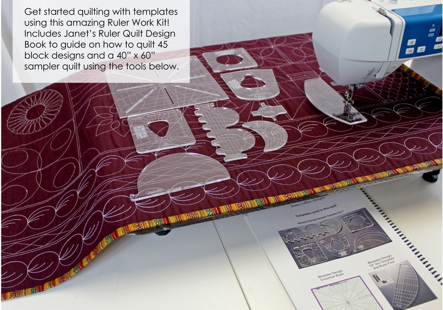 Elegant ruler work kit from sew steady 10 New Sew Steady Quilting Rulers Inspirations