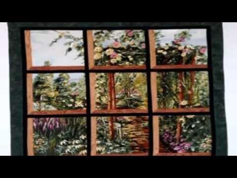 Elegant simple quilting patterns beginner attic window quilt using 10   Through The Window Quilt Pattern