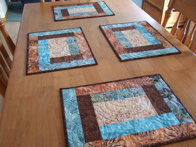 Elegant tamarack shack beautiful and easy placemats quilted 10 Cool Easy Quilted Placemats To Sew