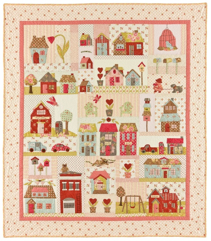 Elegant tiny town applique quilts patterns 10 Interesting Bunny Hill Quilt Patterns Inspirations