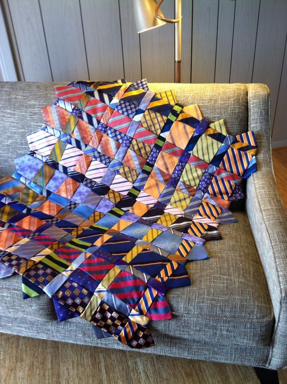 Interesting a memory quilt made from ties quilting digest 11 Elegant Necktie Quilt Ideas Inspirations