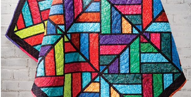 Interesting a stunning stained glass quilt using fabric strips 11 Stylish Stained Glass Quilting Patterns Inspirations