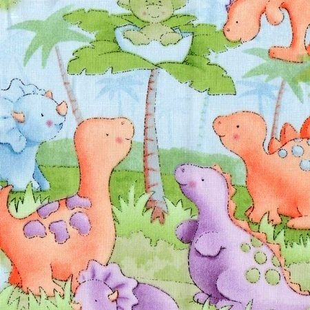 Interesting ba quilt fabric panel cute a saurus dinosaurs pastel blue green 11 New Baby Quilt Fabric Panels Gallery
