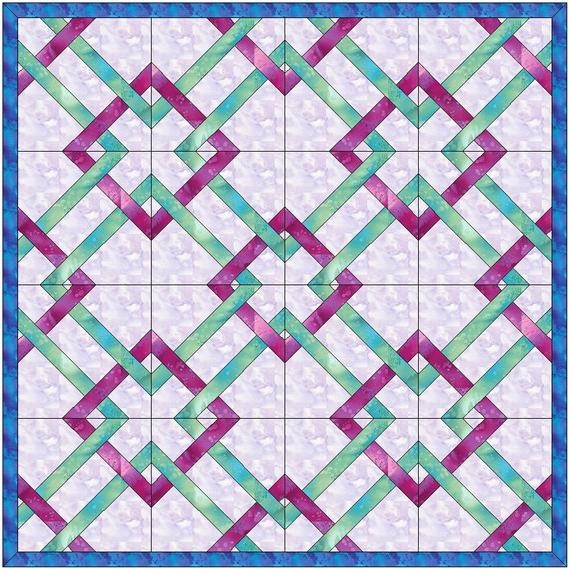 Interesting celtic calm knot quilt chain 6 inch paper template quilting block pattern pdf 11 Cool Celtic Knot Quilt Pattern