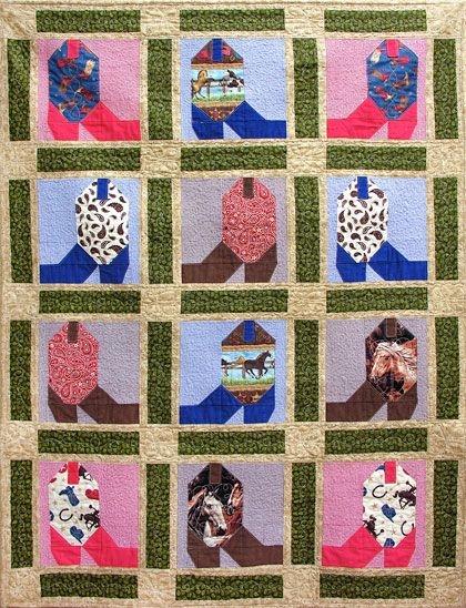 Interesting cowboy boot quilt cowboy quilt horse quilt farm quilt 9 Cozy Cowboy Boots Quilt Pattern