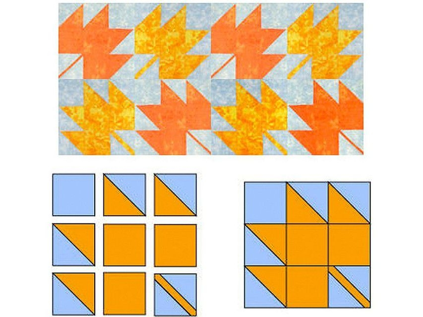 Interesting easy maple leaf quilt block pattern 11 Interesting Maple Leaf Quilt Patterns Inspirations