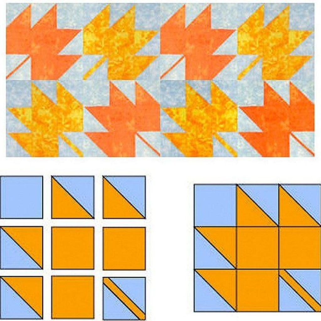 Interesting easy maple leaf quilt block pattern New Maple Leaf Quilt Patterns