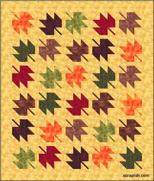 Interesting free maple leaf quilt pattern easy for beginners 10 Unique Maple Leaf Quilt Patterns