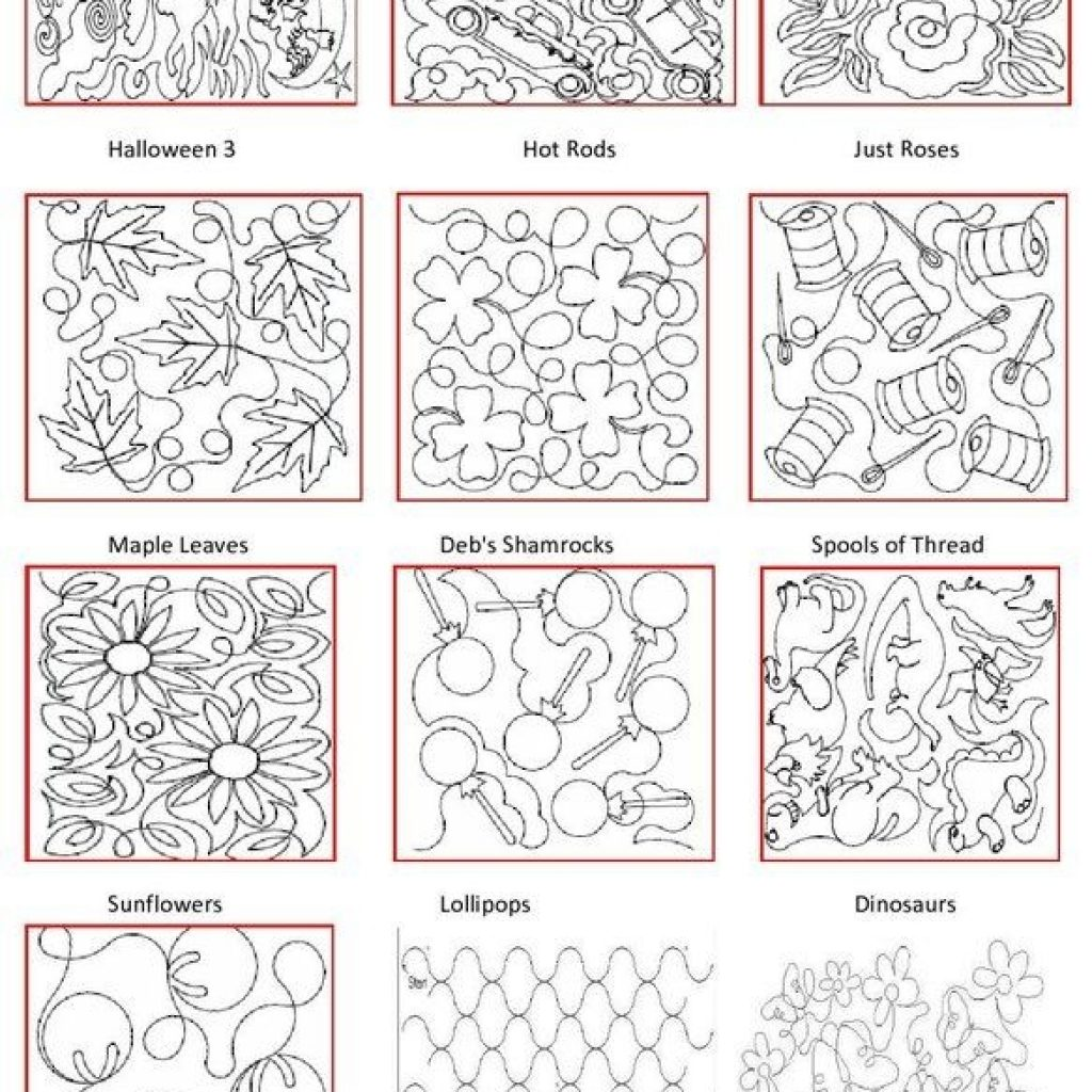 Interesting pattern book quilting stitch patterns free motion 11   Machine Quilting Quilting Pattern Inspirations