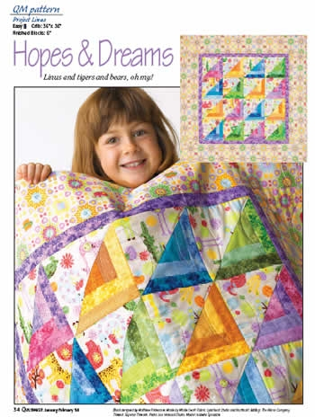 Interesting pattern hopes dreams quilting daily 11 Interesting Linus Project Quilt Patterns Inspirations