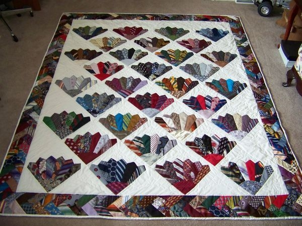 Interesting pin on traditional quilt ideas 11 Elegant Necktie Quilt Ideas Inspirations