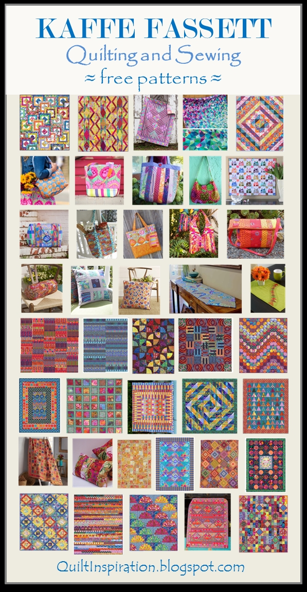 Interesting quilt inspiration free pattern day kaffe fassett quilting 10   Quilt Patterns For Large Print Fabrics Inspiration Inspirations
