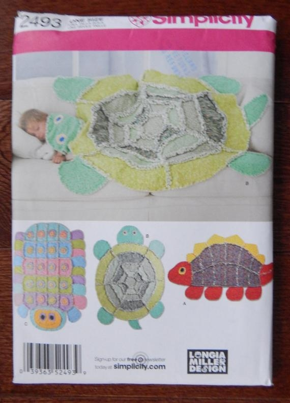 Interesting rag quilt sewing pattern dinosaur turtle caterpillar simplicity 2493 longia miller design kids blanket cotton flannel fleece uncut 9 Cool Turtle Rag Quilt Pattern Inspirations