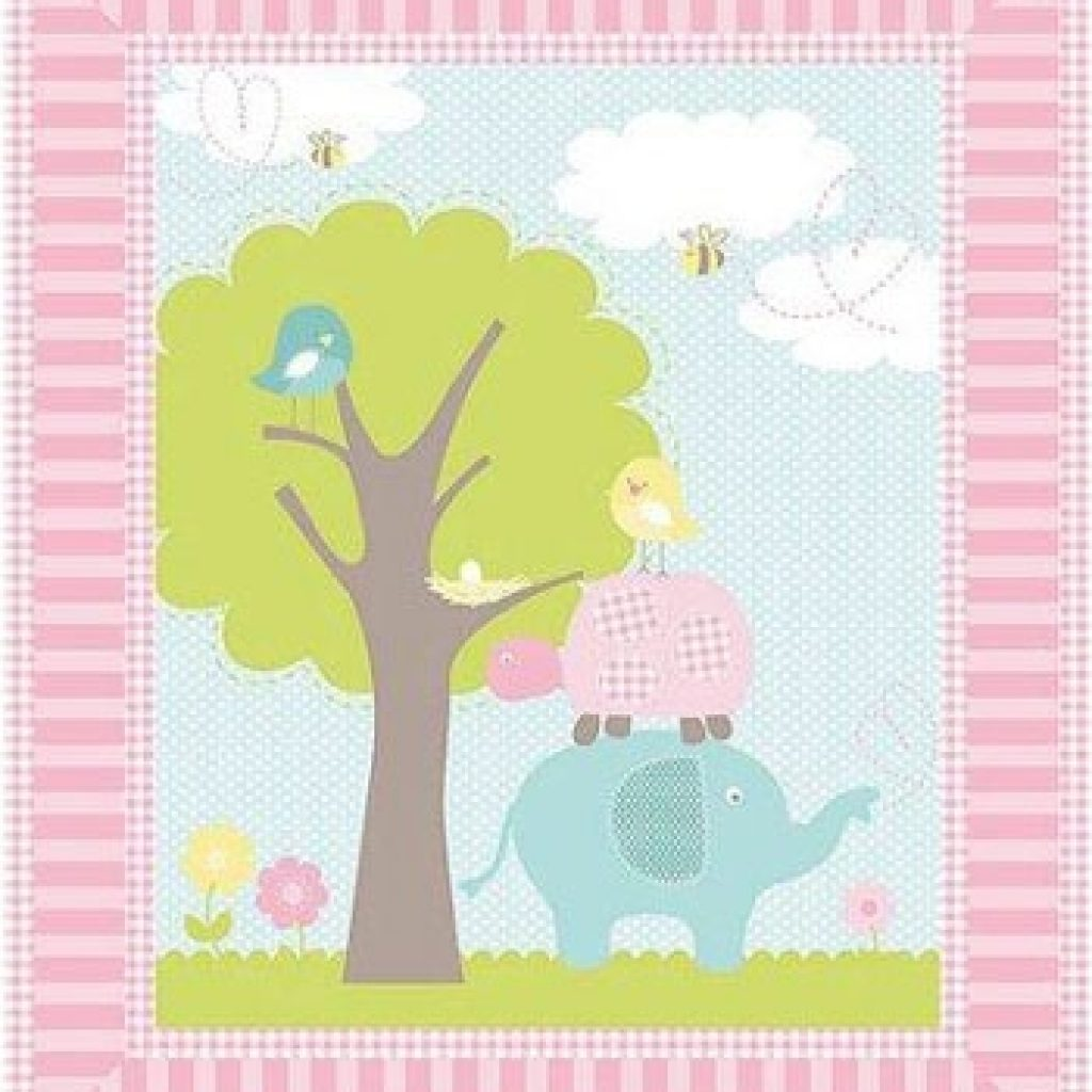 Interesting springs creative sweet meadow nursery ba quilt panel fabric 11 New Baby Quilt Fabric Panels Gallery