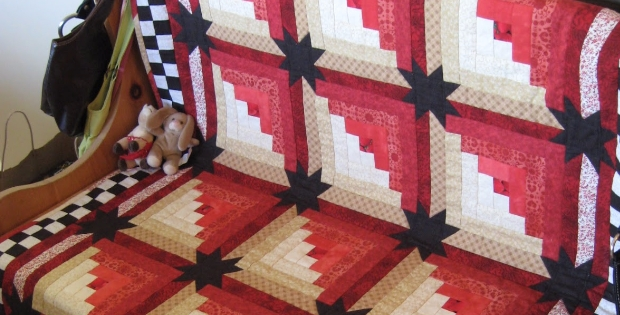 Interesting step up your log cabin quilt with bold stars quilting cub Cozy Eleanor Burns Log Cabin Quilt Pattern