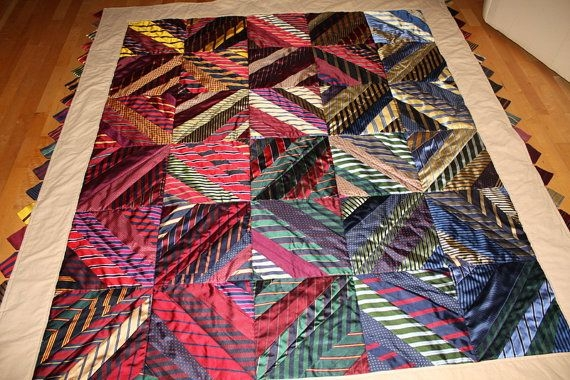 Interesting this item is unavailable necktie quilt quilts quilt making 11 Elegant Necktie Quilt Ideas Inspirations