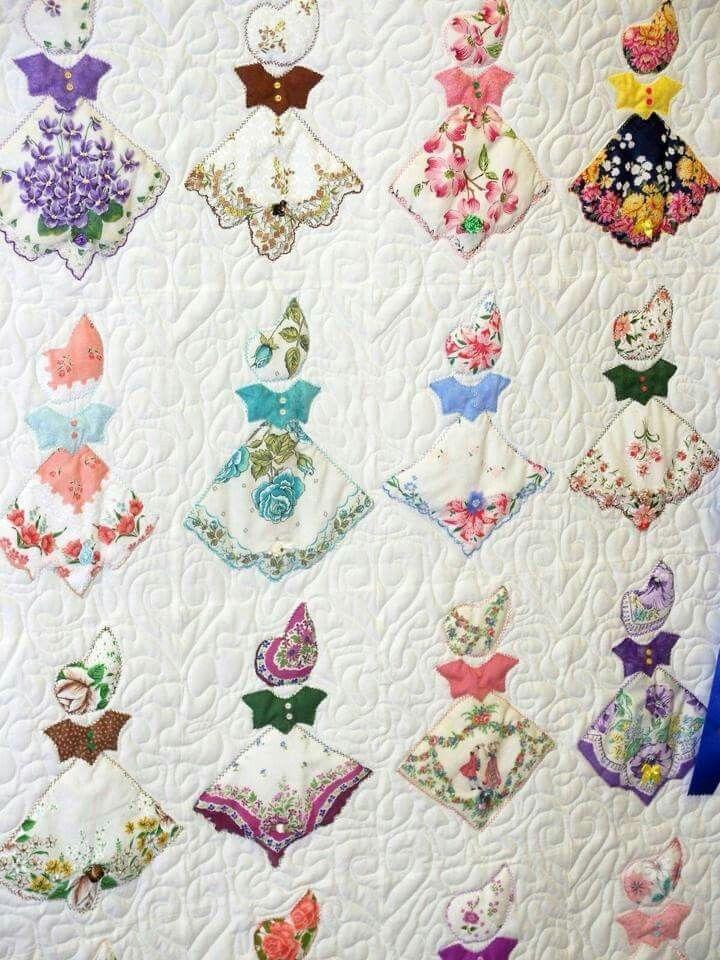 Interesting vintage hankie southern belle quilt vintage handkerchiefs 10 Unique Southern Belle Quilt Pattern