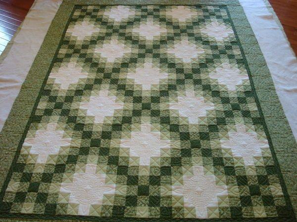 irish chain quilt with celtic knots irish quilt patterns 10   Double Irish Chain Quilt Pattern Queen