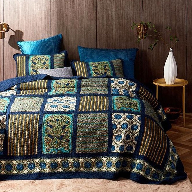 Modern 2020 vintage patchwork bedspreads for bed cotton quilt set 11 Unique Vintage Patchwork Quilt Bedding Gallery