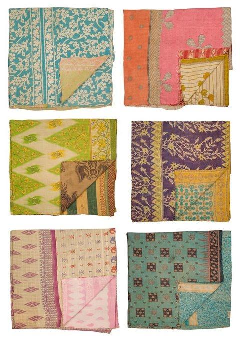 Modern a catalogue of sorts vintage kantha quilts sari quilt 10 Modern Vintage Kantha Quilt