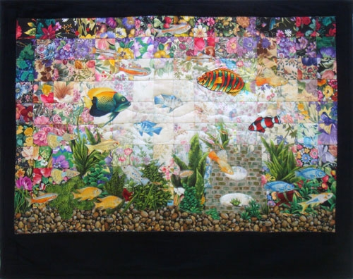 Modern aquarium watercolor quilt kit at everything quilts Cozy Watercolor Quilts Gallery