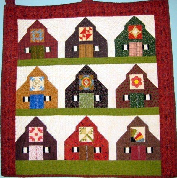 Modern barn block pattern for barn free barn quilt patterns 9   Barn Quilt Block Pattern