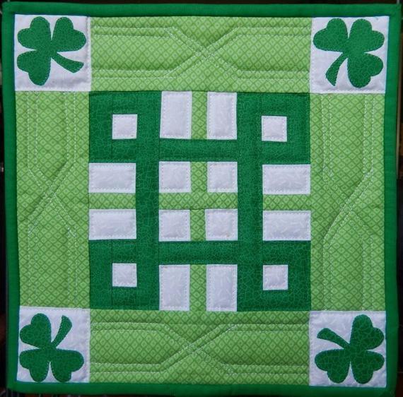 Modern celtic knot miniature quilt pdf pattern 11 Cool Celtic Knot Quilt Pattern