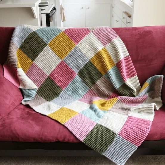 Modern creating paper dreams tutorial tuesday knitted patchwork 11 Modern Knitted Patchwork Quilt Patterns