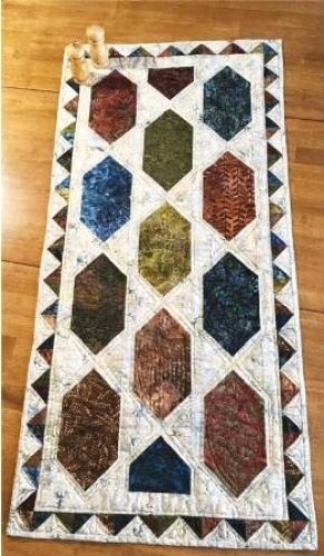 Modern cut loose press easy street table runner pattern clppsq002 10 Stylish Easy Quilted Table Runner Patterns Inspirations