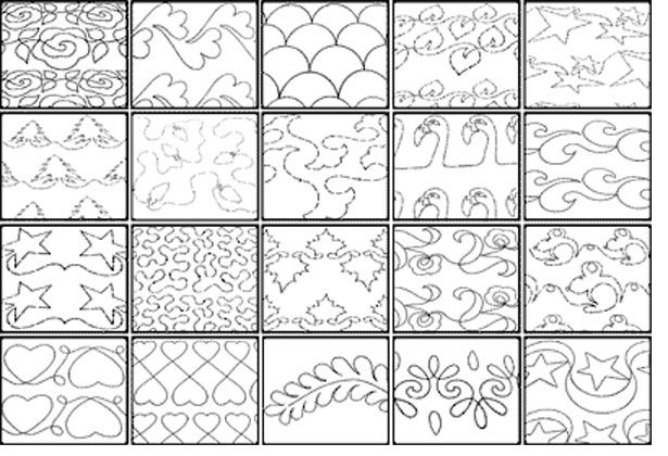 Modern free continuous quilting patterns catalog of patterns 11 Interesting Continuous Quilting Patterns Inspirations