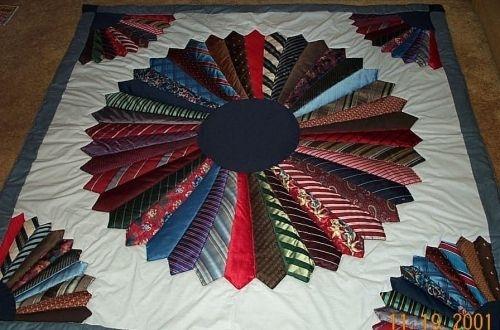 Modern gallery details quilters village necktie quilt tie 11 Elegant Necktie Quilt Ideas Inspirations