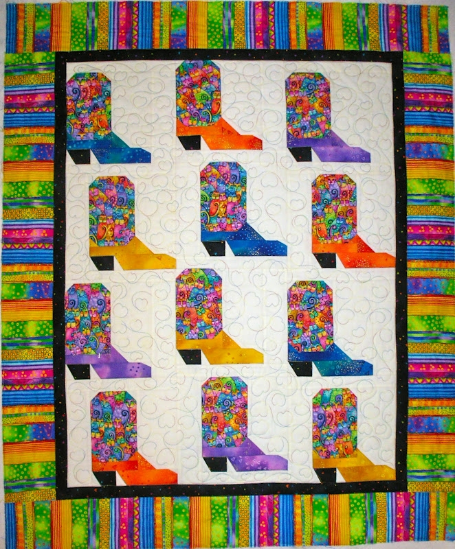 Modern lindas quiltmania cowboy boot ba quilt 9 Cozy Cowboy Boots Quilt Pattern