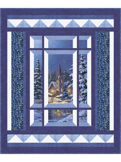 Modern modern window silent night pattern 10   Through The Window Quilt Pattern