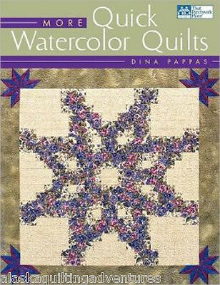 Modern pattern book more watercolor quilts dina pappas 9781564773647 ebay Cozy Watercolor Quilts Gallery