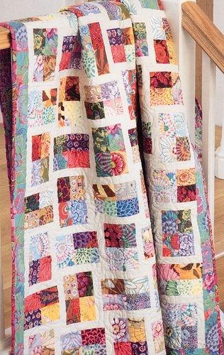 Modern sparkling gemstones jellyroll quilts quilts layer cake 10 Cool Sparkling Genstones Quilt Pattern