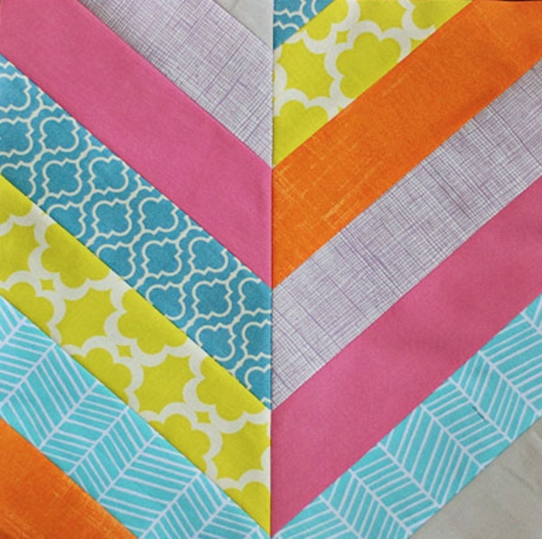 Modern the chevron summer 17 easy quilt patterns favecrafts 9 Beautiful Chevron Stripe Quilt Pattern Gallery