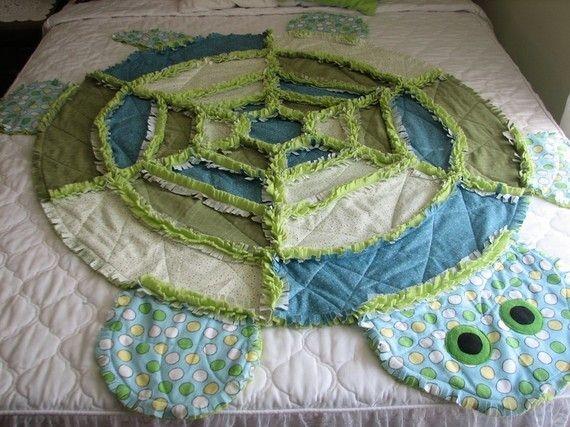 Modern turtle rag quilt etsy turtle quilt rag quilt quilting 9 Cool Turtle Rag Quilt Pattern Inspirations