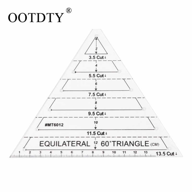 Modern us 339 16 off60 degree equilateral triangle quilting ruler template diy sewing craft toolsewing tools accessory aliexpress 10 Stylish 60 Degree Triangle Quilting Ruler Gallery
