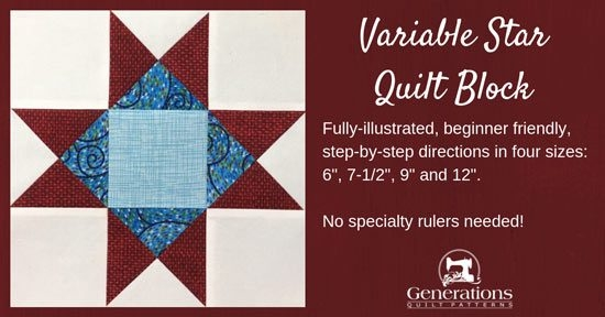 Modern variable star quilt block 6 7 12 9 12 and 15 11 Modern 12 In Quilt Block Patterns Gallery