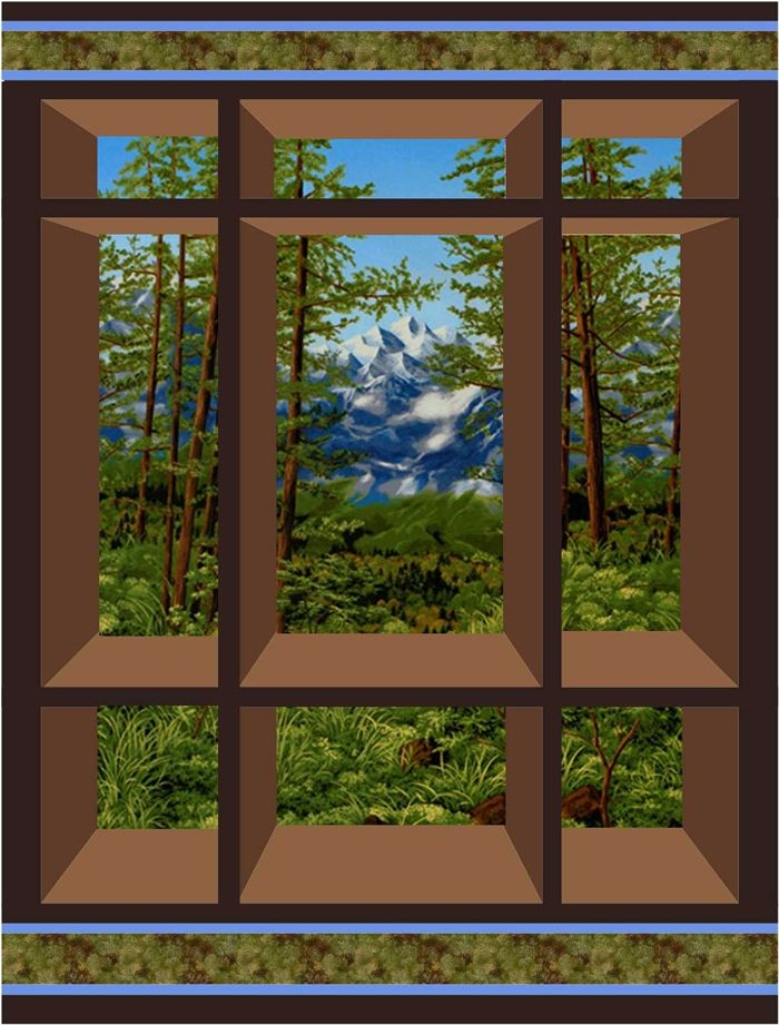 Modern window on the east quilt pattern cs 01 attic window quilts 10   Through The Window Quilt Pattern