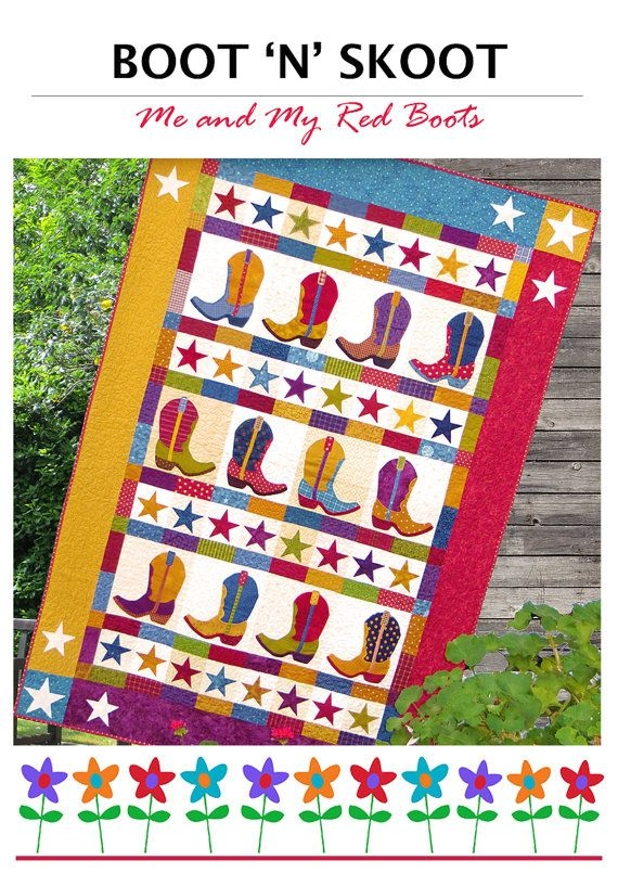 New boot n skoot pdf quilt pattern quilt patterns pdf pattern 9 Cozy Cowboy Boots Quilt Pattern