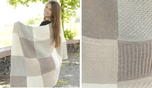 New comfort knitted patch blanket free knitting pattern 11 Stylish Patchwork Quilt Knitting Pattern