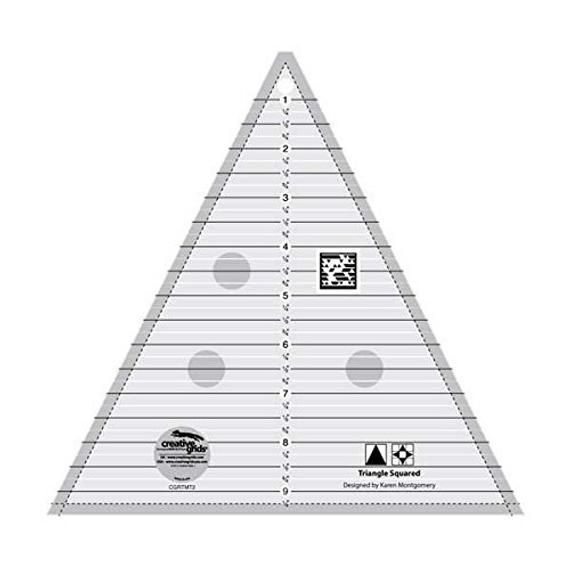 New creative grids triangle squared ruler 9 12in cgrtmt2 in 10 Stylish 60 Degree Triangle Quilting Ruler Gallery
