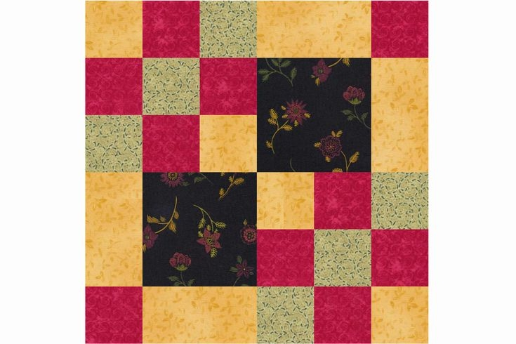 New free 9 inch patchwork quilt block patterns 10 Modern Patchwork Square Quilt Patterns Inspirations