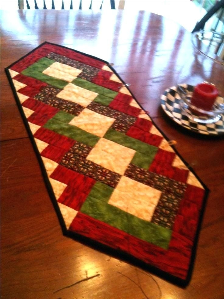 New free christmas quilt patterns table runners table runner 10 Interesting Quilting Patterns Table Runners Inspirations
