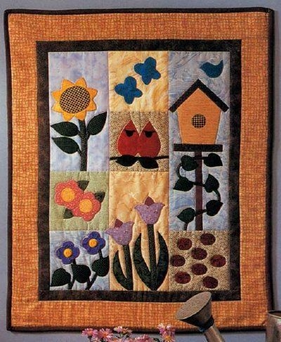 New garden of delights quilted wall hanging pattern quilted 11 Beautiful Quilted Wall Hanging Pattern Inspirations