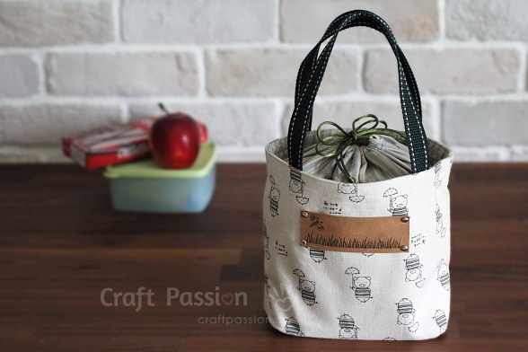 New lunch box bag free sewing pattern craft passion 11 New Quilted Lunch Bag Pattern Inspirations
