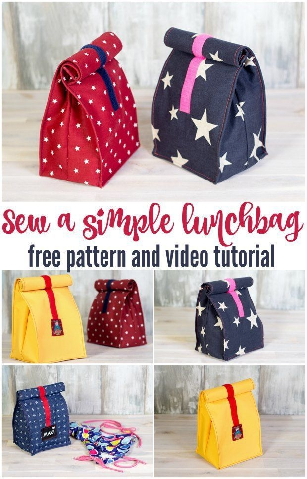 New sew your own lunch bag video sew modern bags beginner 11 New Quilted Lunch Bag Pattern Inspirations